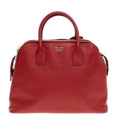 Prada Cuir Triple Zip Dome Tote Saffiano Leather