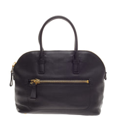 Tom Ford Front Zip Pocket Tote Leather Large