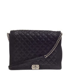 Chanel Boy Flap Gentle Quilted Goatskin XL