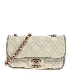 Chanel Triptych Flap Quilted Calfskin Small