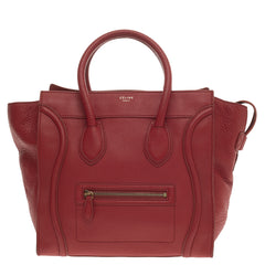 Celine Luggage Grainy Leather Mini