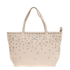 Salvatore Ferragamo Bice Tote Grommet Embellished Leather