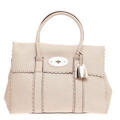 Mulberry Cookie Bayswater Satchel Leather Medium