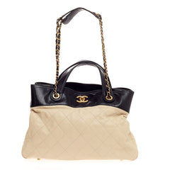 Chanel In The Mix Shopping Bag Quilted Calfskin Large