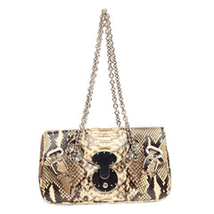 Ralph Lauren Collection Vintage Ricky Belted Chain Shoulder Bag Python Small