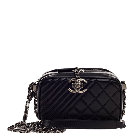 f3f361c4d8ff Buy Chanel Coco Boy Camera Bag Quilted Leather Mini Black 546001 – Rebag