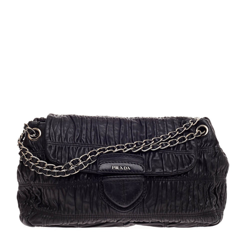 e6ba2b7b6c21 Buy Prada Gaufre Chain Flap Shoulder Bag Nappa Leather Medium 513704 – Rebag