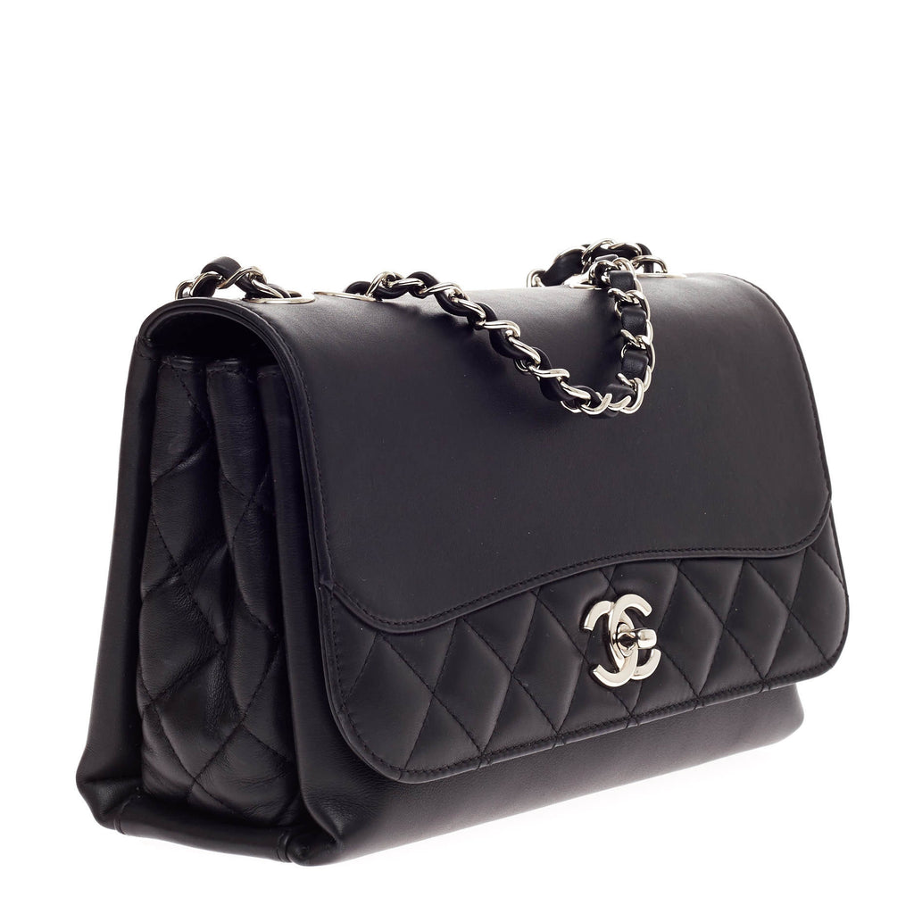 77dbb88395d3 Buy Chanel Tramezzo Flap Bag Calfskin Medium Black 594201 – Rebag