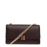 Celine Case Chain Flap Bag Leather Medium