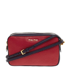Miu Miu Madras Crossbody Leather Small