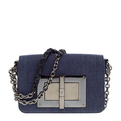 Tom Ford Natalia Chain Shoulder Bag Denim Medium