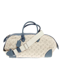 Louis Vuitton Round Speedy Monogram Denim