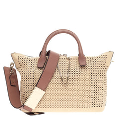 Chloe Baylee Satchel Perforated Leather Medium