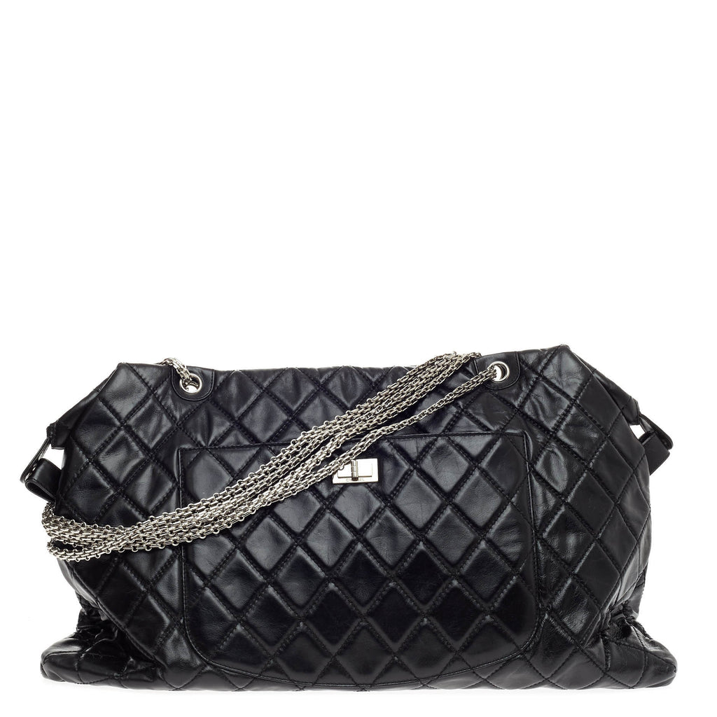 010e3c47186b Buy Chanel Overnight Reissue Tote Quilted Lambskin XXL Black 566101 ...
