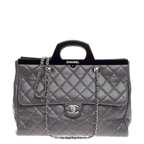 daba3a3a2b0ad3 Buy Chanel CC Delivery Tote Quilted Glazed Calfskin Large 605501 – Rebag