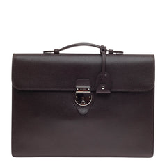 Gucci Buckle Flap Briefcase Leather Large