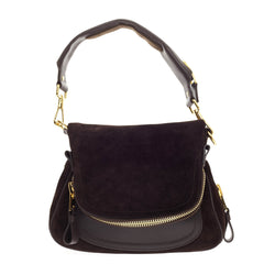 Tom Ford Jennifer Shoulder Bag Leather and Suede Medium