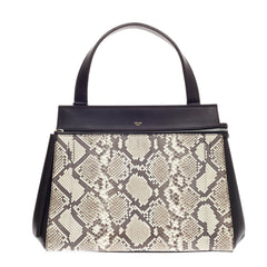 Celine Edge Bag Python and Leather Medium