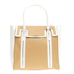 Tiffany & Co. Zip Detail Flap Tote Leather