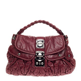 Miu Miu Coffer Convertible Hobo Matelasse Leather
