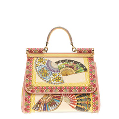 Dolce & Gabbana Miss Sicily Printed Leather Medium