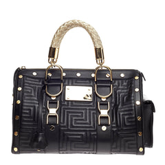 Versace Snap Out Of It Bag Matelasse Leather Medium