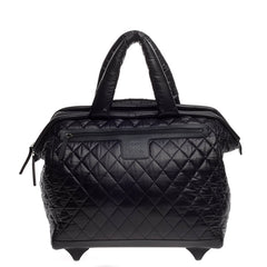 Chanel Coco Cocoon Rolling Trolley Quilted Nylon