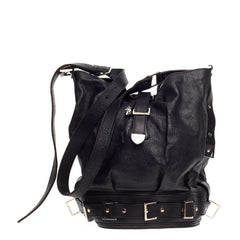 Alexander McQueen Belted Bucket Leather