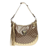 Gucci Babouska Heart Hobo GG Coated Canvas Large