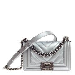 Chanel Boy Flap Chevron Calfskin Small