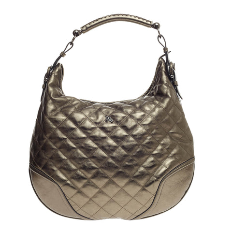 Buy Burberry Hoxton Hobo Quilted Leather Green 557301 – Rebag 88e07a3caef63