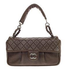 Chanel Lady Braid Chain Flap Quilted Distressed Lambskin Medium