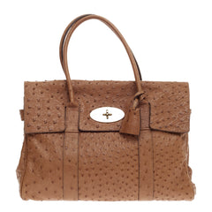 Mulberry Bayswater Satchel Ostrich Medium