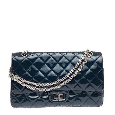 18519e9b9ff686 Buy Chanel Reissue 2.55 Handbag Quilted Patent 227 Black 608701 – Rebag