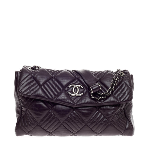 Buy Chanel In and Out Flap Bag Quilted Lambskin Maxi Purple 585901 – Rebag a1272330f9203