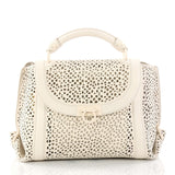 Salvatore Ferragamo Sofia Satchel Laser Cut Leather 3212701