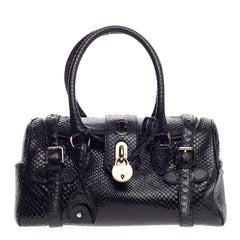 Ralph Lauren Collection Padlock Satchel Python Medium