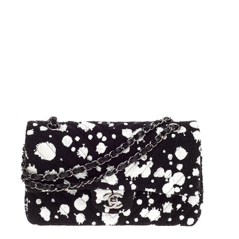6f028f47f3ef Buy Chanel Splatter Paint Classic Double Flap Bag Tweed 819401 – Rebag