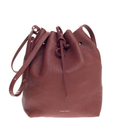Mansur Gavriel Bucket Bag Tumbled Leather Large