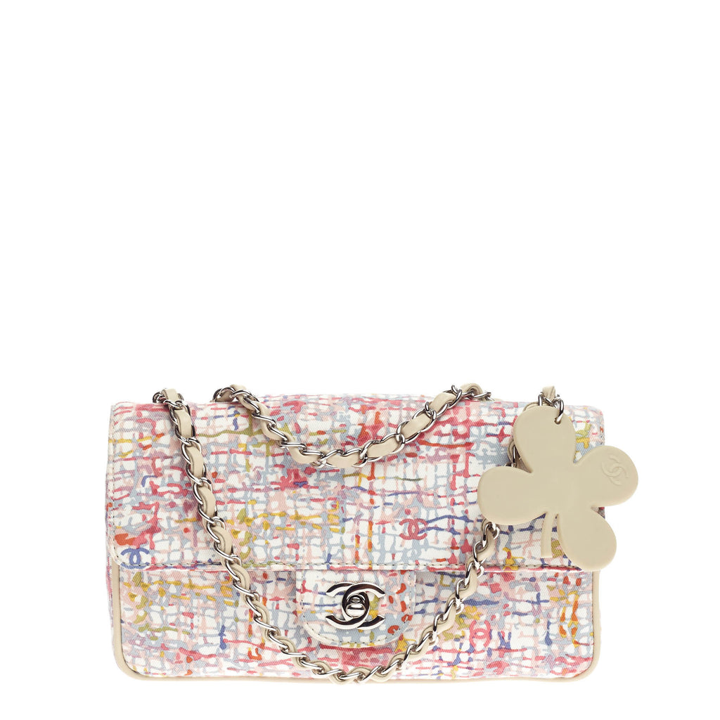 9f723fb7ff67 Buy Chanel Watercolor Clover Flap Bag Printed Canvas Small 846502 ...