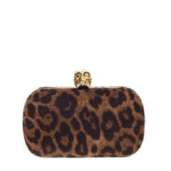 Alexander McQueen Skull Box Clutch Calf Hair Small