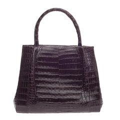 Nancy Gonzalez Convertible Tote Pleated Crocodile Medium