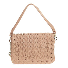 Christian Louboutin Flap Shoulder Bag Woven Leather Medium