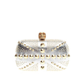 Alexander McQueen Britannia Skull Box Clutch Studded Leather Small