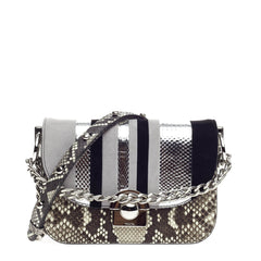 Prada Arcade Shoulder Bag Python and Leather