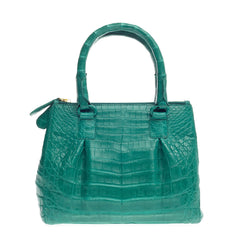 Nancy Gonzalez Double Zip Convertible Tote Crocodile Mini