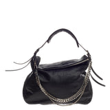 Jimmy Choo Biker Bag Embossed Leather Large