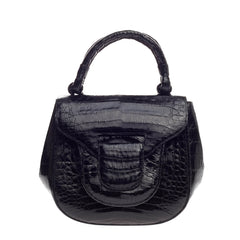 Nancy Gonzalez Flap Pocket Bag Crocodile Small