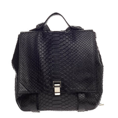 Proenza Schouler Courier Backpack Python Medium
