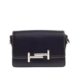 Tod's Double T Crossbody Perforated Leather Mini